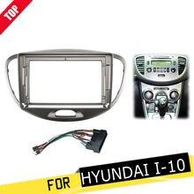 Fáscia do carro do ruído de longshi 2 para hyundai i10 i 10 2007-2013 9 Polegada dvd quadro kit adaptador painel in-dash montagem painel de instalação