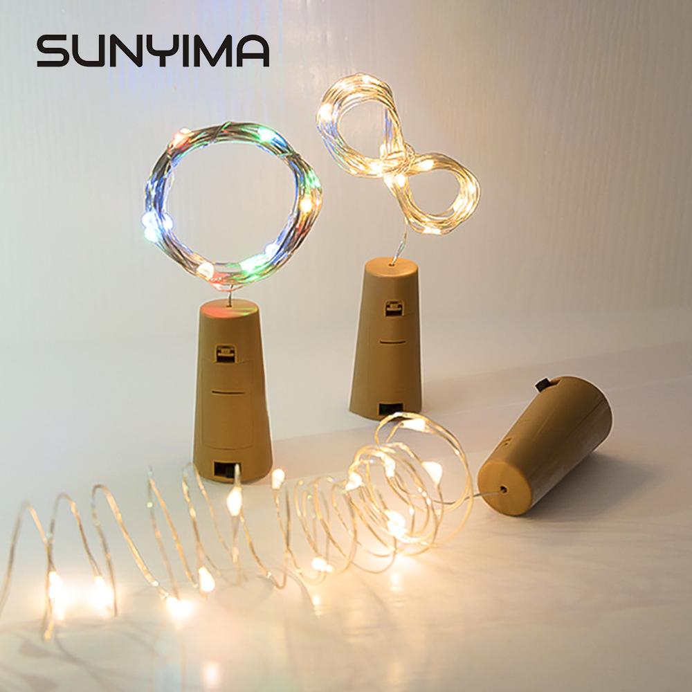 2M  LED String Lights Copper Wire Outdoor Fairy Garland Stopper For   Christmas New Year Wedding Party Holiday Decoration