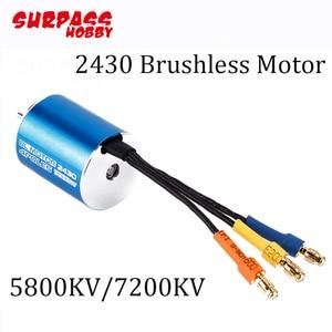 Image 3 - 2430 5800KV/7200KV Sensorless Brushless Motor With 25A Brushless ESC And Program Card For 1/16 1/18 RC Car/Truck