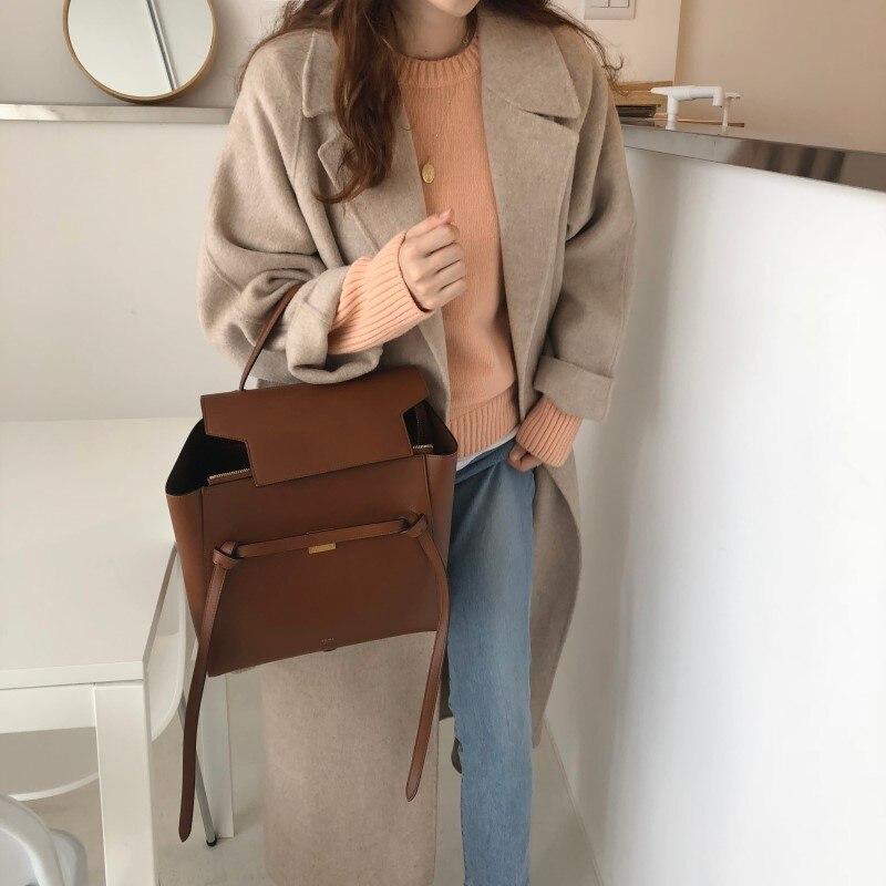 19 Winter Oversize Long Trench Coat Women Cashmere Coat Korean Lady Windbreaker Outwear Streetwear 88
