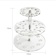 Makeup Brush Display Stand Acrylic Double Layered Round Make