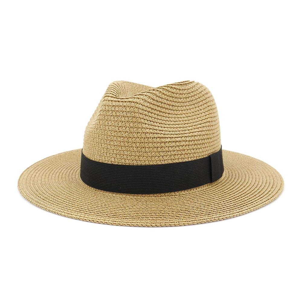 Drop Shipping Big Size Jazz Hat Lady Beach Oversize Straw Sun Cap Outdoors Dad Plain Panama Hats Men Big Size Fedora Hats 60cm