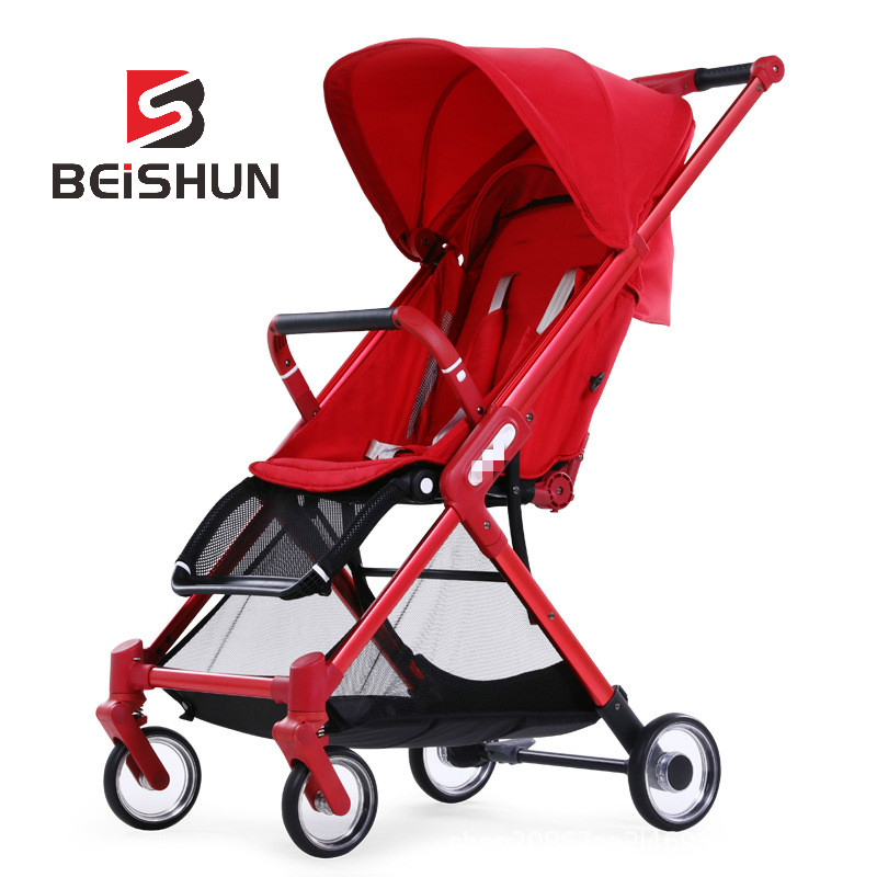 Baby Bicycle Stroller Simple And Lightweight Adjustable Folding Cart