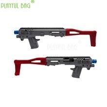 Pb saco divertido esportes ao ar livre brinquedo p1 caa dobrável carabina kit bala de água arma modificado náilon modelo nd11