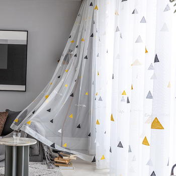 Nordic Style Triangle Tulle Curtains for Children 2