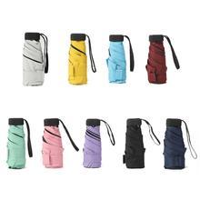 18 stili di 180g Ultralight Pocket Mini Ombrello Pioggia Antivento Durevole 5 Pieghevole Ombrelloni Portatile Crema Solare Protezione Solare Parasole