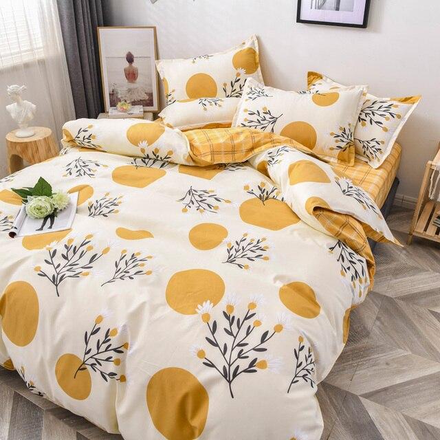 Classic Bedding Set Pale Orange Floral