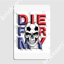 Morrer para a minha cidade do brasil fortaleza metal sinais clube casa cartaz mural decoração estanho cartazes