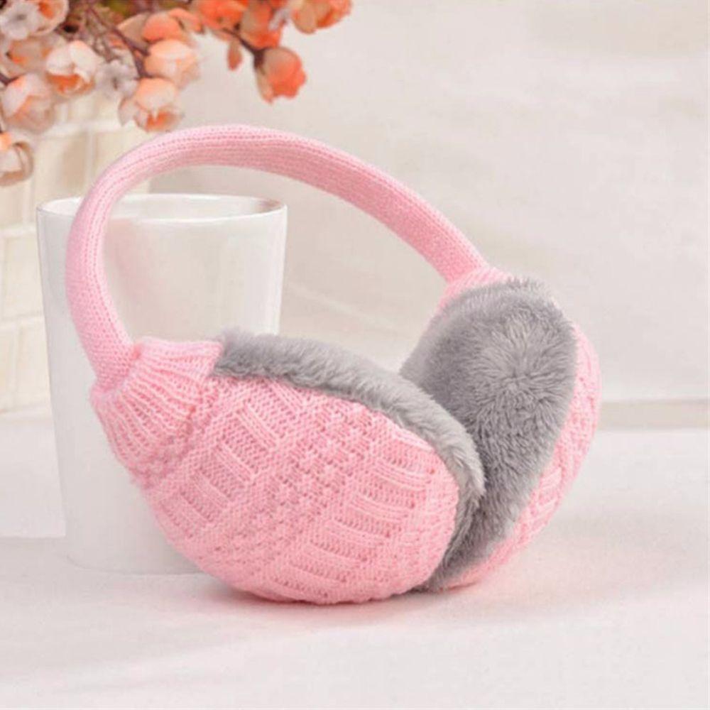 Hot New Fashion Style Winter Earmuffs Women Warm Unisex Ear Cover Knitted Plush Earwarmers Faux Fur Ear Muffs