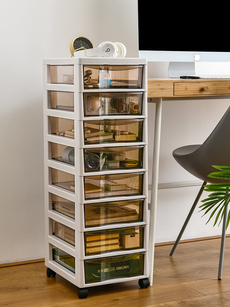 New Arrival Plastic Office Cashier Drawer Document Receiving Box Storage Finishing Multi-layer Storage Rack File Cabinet