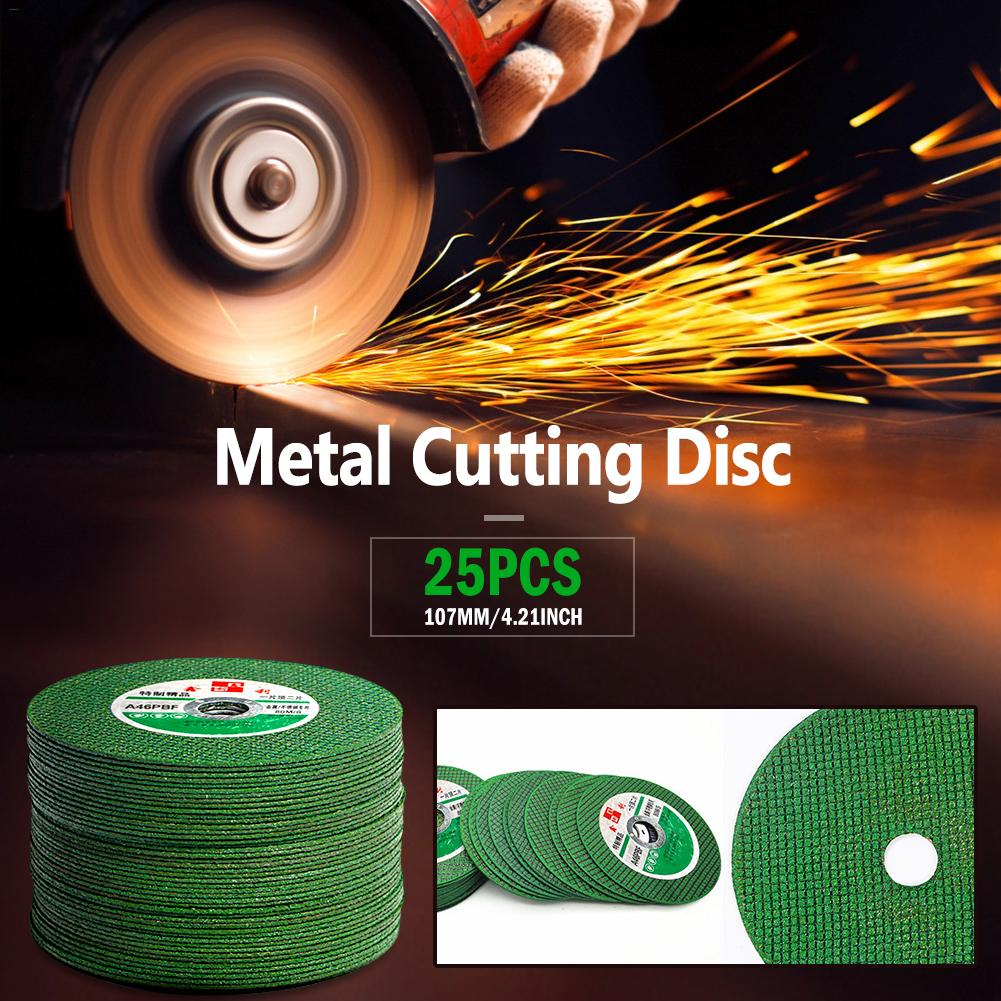 Image 2 - 25/50PCS Resin Cutting Disc Grinding Wheel Abrasive Cutting Disc Drill for Stainless Steel&Metal 100mm Angle Grinder Accessories-in Abrasive Tools from Tools