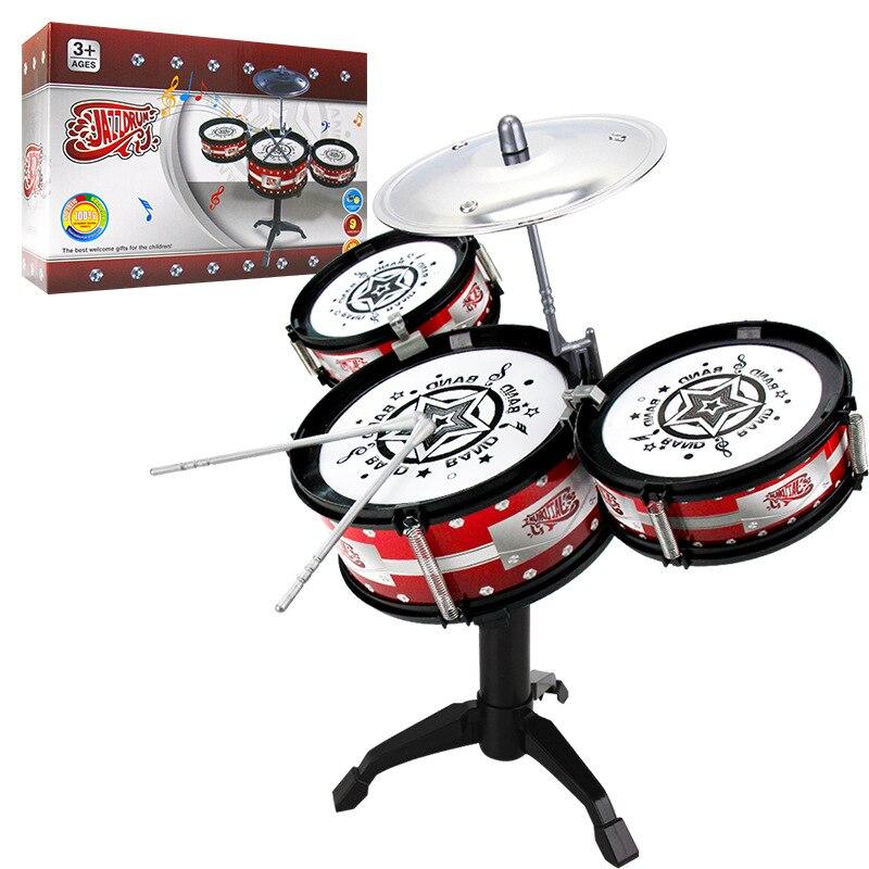 Kit de batterie de Jazz pour enfants jouet musique petite enfance éclairer modèle tambour de Jazz pour pratiquer l'instrument de Percussion