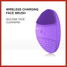 BLINGBELLE Face Cleaner Brush Electric Facial Cleansing Foreo Ultrasonic Skin Silicone Massager Wireless Charge Tool
