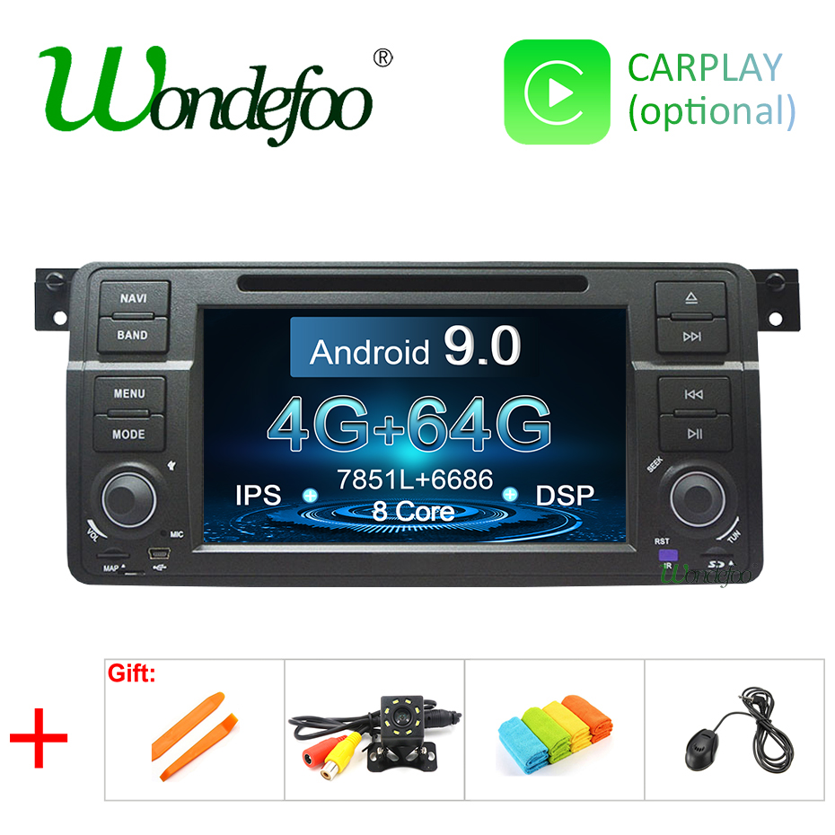 DSP Android 9 0 4G 64G Octa core Car DVD GPS for BMW E46 M3 Rover