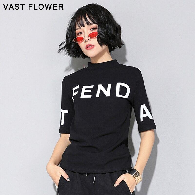 Женская футболка с принтом, черная Свободная Повседневная футболка с коротким рукавом и круглым вырезом, весна-лето 2020