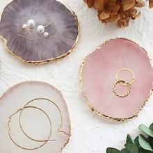 Демонстрационная пластина для ювелирных изделий из смолы, поднос для демонстрации ожерелья, колец, серег, палитра с рисунком, держатель для ...