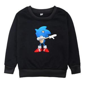 Image 1 - Children Sonic The Hedgehog Clothes Sweatshirts Boys Hoodies Girls Long Sleeve Hoodie 2019 Kids O Neck Cartoon Winter Clothing