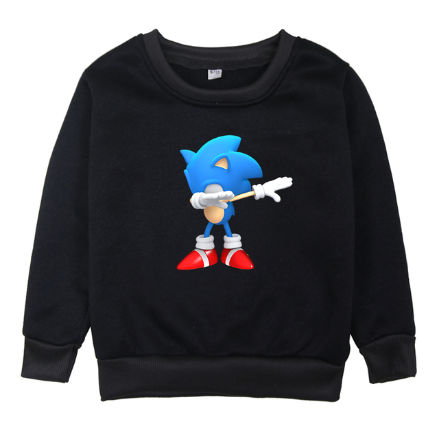 Children Sonic The Hedgehog Clothes Sweatshirts Boys Hoodies Girls Long Sleeve Hoodie 2019 Kids O Neck Cartoon Winter Clothing