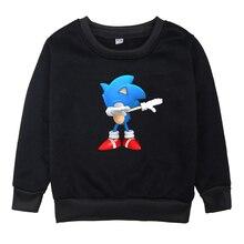 เด็ก Sonic The Hedgehog เสื้อผ้าเสื้อ Hoodies เด็กหญิงแขนยาว Hoodie 2019 เด็ก O คอการ์ตูนฤดูหนาวเสื้อผ้า