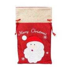 Christmas Gift Bags Embroidered Drawstring Treat Bag Christm