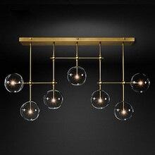 Altın veya siyah LED avizeler Modern İskandinav G4 temizle cam küre avize aydınlatma oturma odası restoran yatak odası asılı lamba