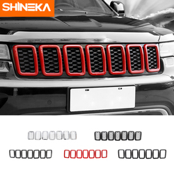 SHINEKA Car Sticker For Jeep Grand Cherokee 2014-2016 2017+ Front Grille Decorative Cover Original Models For Grand Cherokee