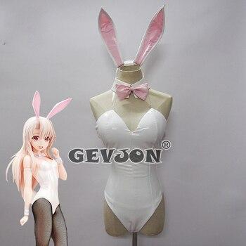 Angepasst Anime! Fate/kaleid liner Magische Mädchen Illyasviel Lolita Bunny Girl Sexy Uniform Cosplay Kostüm Halloween-Party Anzug