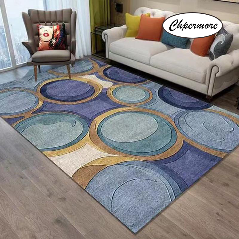 Chpermore Retro Creative Large Carpets Non-slip Tatami Mats Bedroom Home Lving Room Rug Floor Rugs Children's Non-slip Mat