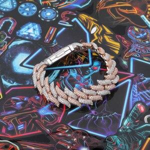 Image 4 - TOPGRILLZ 16 i 18 mm Miami blokada zapięcie ciernie ciężki kubański klamerka do bransoletki Iced Out AAA sześcienne cyrkon Bling Hip hop mężczyzn biżuteria prezent