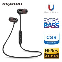 CBAOOO Bluetooth Headset Wireless Bluetooth Headset Sports Anti-sweat Magnetic Stereo with Microphone for iPhone Android стоимость