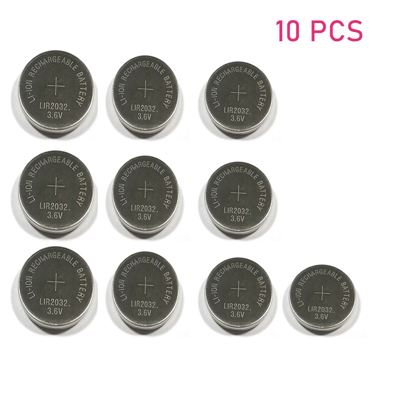 Realistic 10pcs/lot Lir2032 3.6v Li-on Rechargeable Button Coin Cell Battery Can Replace Cr2032/ml2032 For Watches
