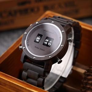 Image 4 - Digital Watch for Men Shifenmei Wood Watches Roll Military Electronic Wheel Timepieces Luxury Wristwatch Clock erkek kol saati