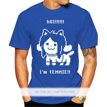Undertale Temmie - Hot!!!!!! I'm Temmie!! Top Tee Tagless Tee T-Shirt Custom Gift Men's T-Shirt Fashionable Round Neck Clothing