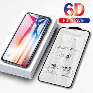 Image 1 - 6D フルカバー強化ガラス 8 7 6 6 s プラス x xs 最大ガラス iphone 7 8 x スクリーンプロテクター保護ガラス iphone 7