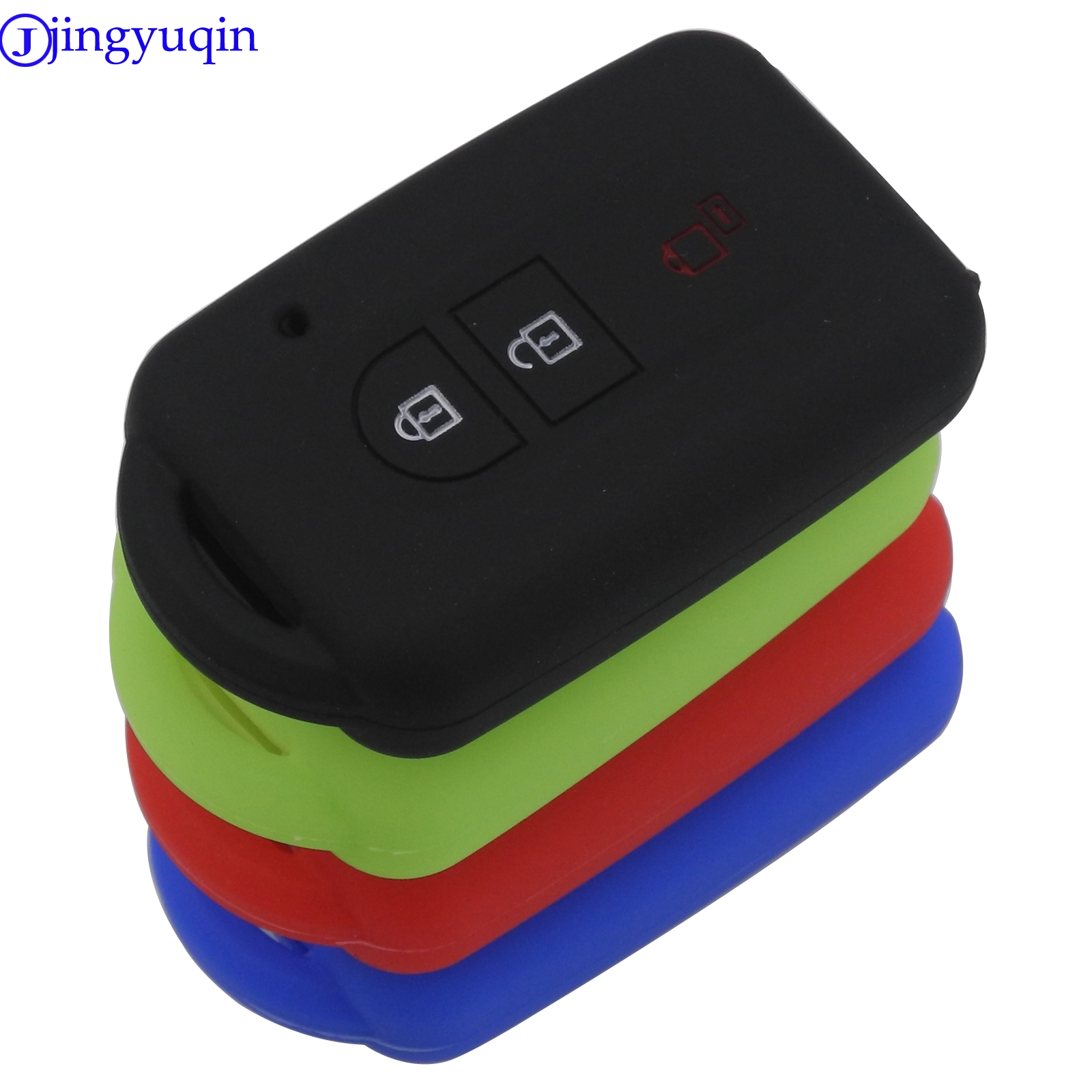 Jingyuqin 3 Buttons Entry Remote Car Key Silicone Cover Case For Nissan Duke MICRA QASHQAI JUKE X-Trail NAVARA FOB Styling
