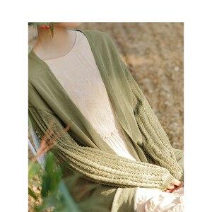 Image 4 - אינמן ספרותי רטרו קוריאני אופנה מזדמן כל התאמה Slim נשים קרדיגן