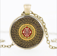 4 Colors 8 Styles Buddhist Sri Yantra Jewelry Pendant Necklace Sacred Geometry Simply and Generous Personality Exquisite Gift(China)