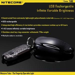 Image 5 - NITECORE 튜브 휴대용 빛 마이크로 USB 충전식 EDC 포켓 손전등 방수 미니 크기 경량 10 다채로운 키 램프