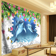 Green Leaves Decorative Tapestry 3d Flower Vine Shark Waterfall Landscape Psychedelic Boho Hippie Tapestries Cloth 300