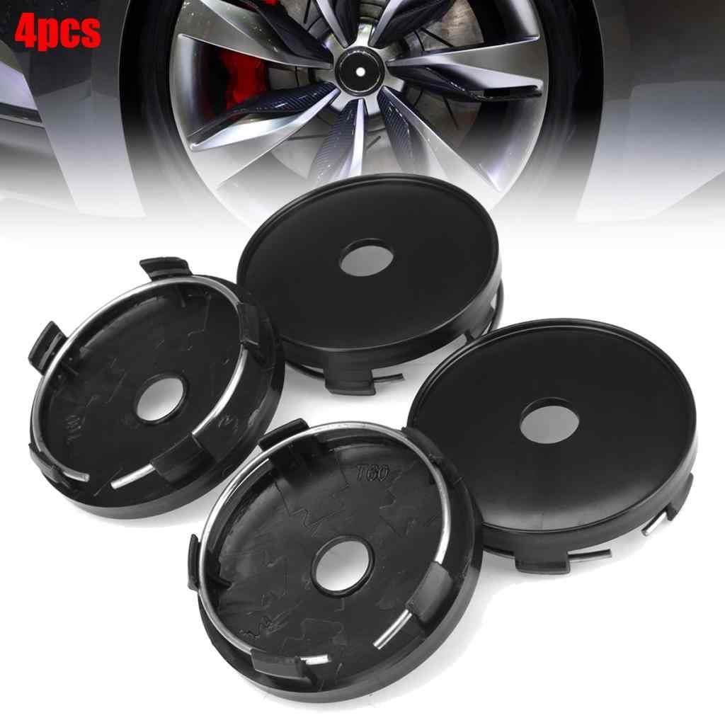 4 قطع 60 مللي متر/54 مللي متر عجلة مركز قبعات سيارة تعديل محور قبعات أسود