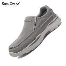 Men Loafers Flats Driving-Shoes Non-Slip Outdoor Male Casual Susugrace for Plus-Size
