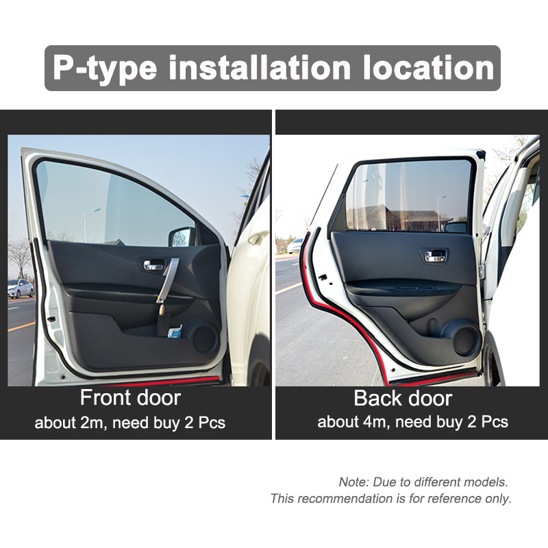 Car Door Seal Strip Big D Small D Z P Type Waterproof Trim Sound Insulation Soundproof Weatherstrip EPDM auto rubber seal Strips in Fillers Adhesives Sealants from Automobiles Motorcycles