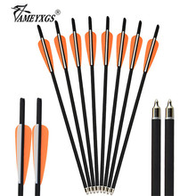 12pcs 18inch Crossbow Arrow Archery Shooting Carbon Arrows 100grain Replaceable Broadhead For Hunting Accessories