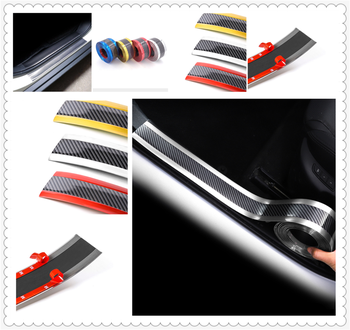 Car sill strip anti-tread sticker modified carbon fiber bumper parts for BMW 530Li 335i 750i 330i 325i 320si 630i E34 F10 F20 image