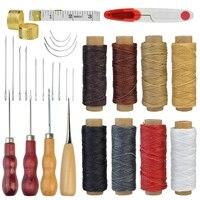 30 шт. инструменты для рукоделия кожи инструменты для шитья рук инструмент для шитья 8 цветов кожа вощеная нить 14 ручных швейных игл сверлени...