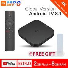 Original Globale Xiao mi mi TV Box S 4K HDR Android 8.1 Ultra HD 2G 8G WIFI Google cast Netflix IPTV Set top Box 4 Media Player