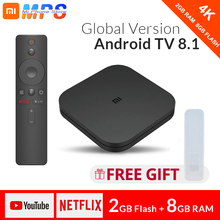 Original Globale Xiao mi mi TV Box S 4K HDR Android 8.1 Ultra HD 2G 8G WIFI Google cast Netflix IPTV Set top Box 4 Media Player