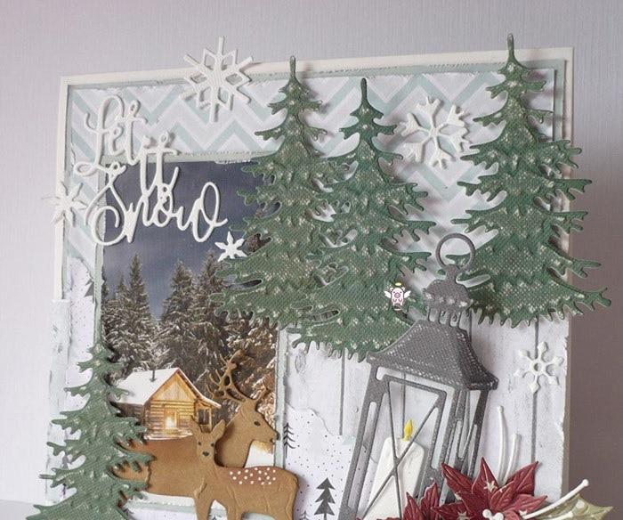 Поросенок ремесленный Металл резки штампы высечки Формы Рождественская елка украшения записная книжка нож лекало, лезвие трафареты для резки
