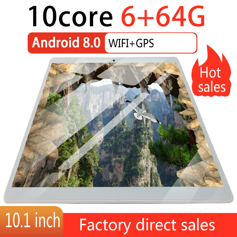 2020   Screen Android 8.0 10 Inch 4G Network WiFi Tablet PC Dual SIM Call Phone Tablet Gifts(RAM 6G+ROM 64G) Tablet Gifts