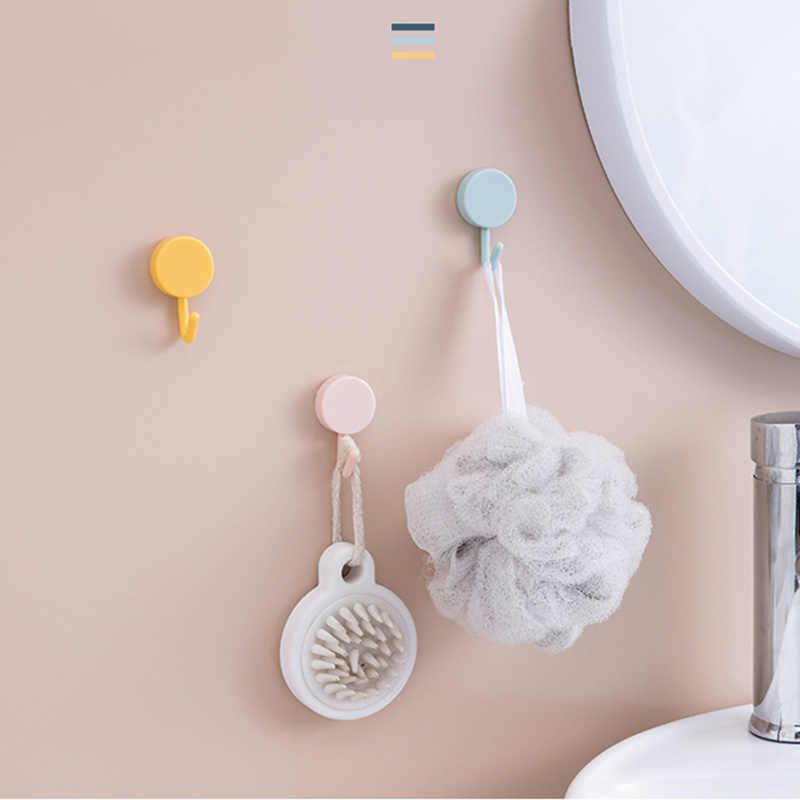 Gancho de succión de pared de colores resistentes colgador impermeable adhesivo estante de carga pesada gancho de acero inoxidable llavero de pared